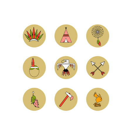 Vector set of icons. The most necessary thing for Indians.