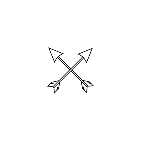 Vector image of Indian arrows. National historical weapons.
