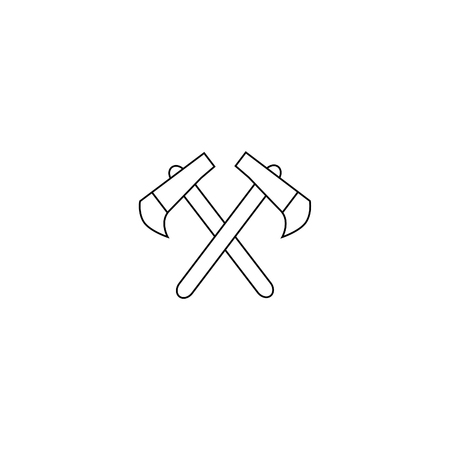 Car vector icon set. The national weapons of the Indians. Axe jpg eps. 向量圖像