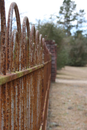 Cemetery Fence in New Augusta, Mississippi