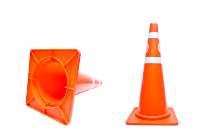 traffic cone isolated on white background photo