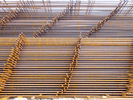 structural steel: Structural steel in mesh shape for construction.