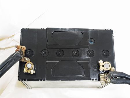 12v: Bater�a de 12v en uso en blanco