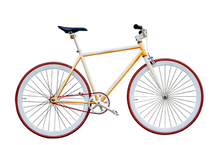 fixed gear bicycle isolated on white