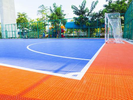 futsal: colorul futsal playground, outdoor field Stock Photo