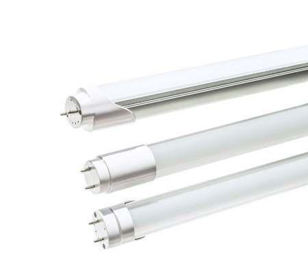 LED tube to replace T5 , fluorescence lamp on white  Banque d'images