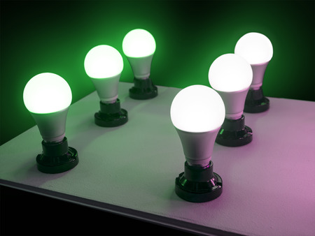 LED-Glühlampe für effiziente Beleuchtung, Energie sparen