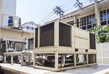 compressor: compressor unit of air conditioner installed outdoor