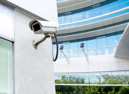 cctv geïnstalleerd buiten om de veiligheid en surveillance te beschermen