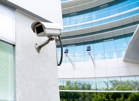 cctv installed outdoor to protect security and surveilance