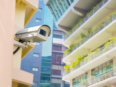 cctv installed on the wall, outdoor use 免版税图像