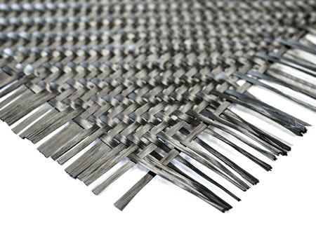 selective focus on nano carbon composite fiber in weave pattern Banque d'images
