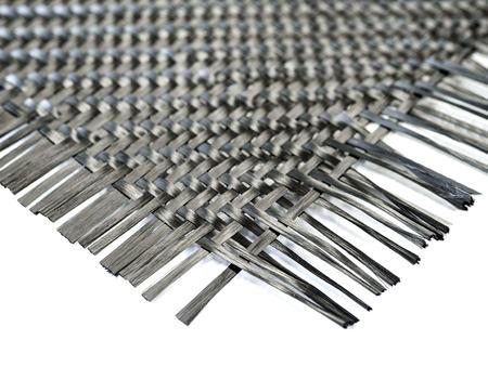 selectieve focus op nano carbon composiet vezel in weefpatroon Stockfoto