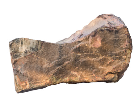 white rock: big granite rock stone, isolated on white background