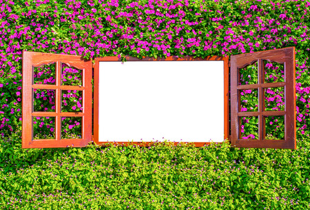 retro flowers: window on colorful flowers with empty space, can be placed text, picture and other items.