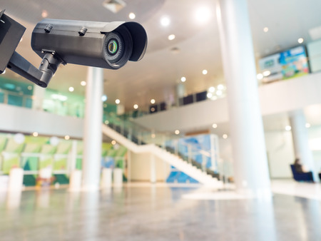 cctv security: Security CCTV camera or surveillance system in office building