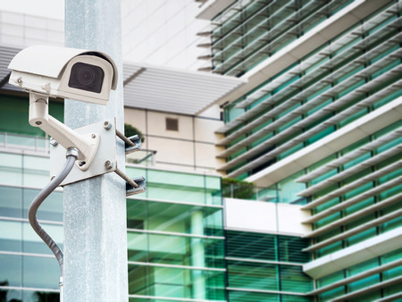 surveillance camera: Surveillance Security Camera or CCTV in for protection system in the pole Stock Photo