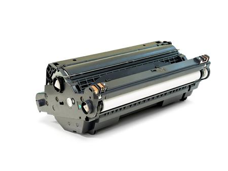 impresora: cartucho de tambor para impresora láser aislado en el fondo blanco