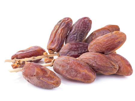 date fruit: sweet dry date fruit isolated on white background Stock Photo