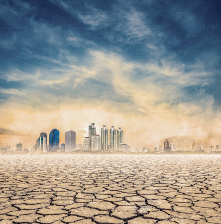 lack: city lack of water,expression on EL nino climate effect Stock Photo