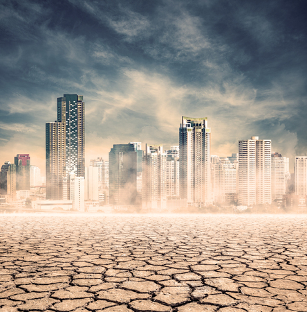 lack water: city lack of water,expression on EL nino climate effect Stock Photo