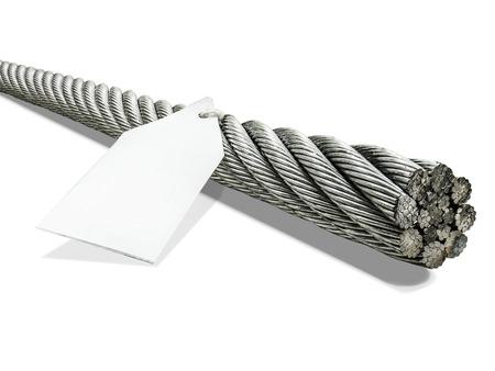 ijzer metaal kabel gebruikt in de industriële constructie, roestvrij staal in spiraalvormige vlecht maakt het sterk, kan zwaar gewicht van massa worden geladen.