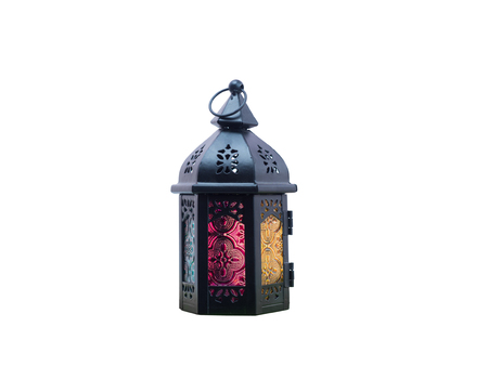 candle: muslim styles lantern use as element of greeting on ramadan kareem mubarak