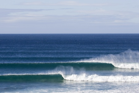 perfect waves: Supertubes surfing break in Jeffreys Bay, South Africa