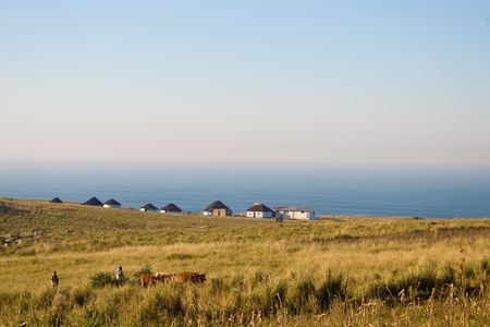 township: African Huts in the Transkei