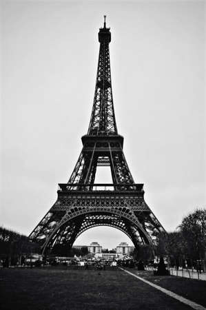 BW Eiffel Tower Stock Photo