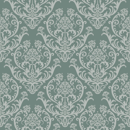 Seamless green floral damask wallpaper Stock Vector - 5678960