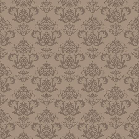 amazing wallpaper: Senza saldatura marrone floreali damascate wallpaper