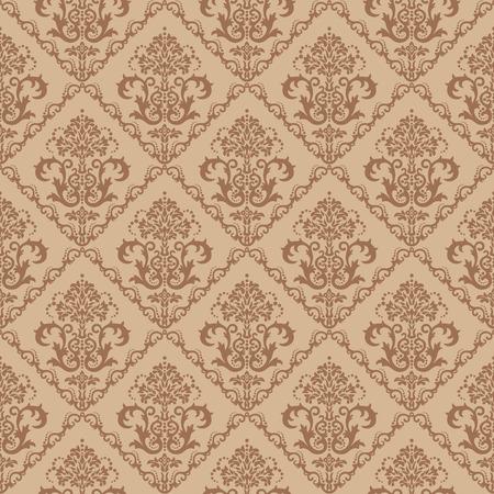 amazing wallpaper: Senza saldatura marrone floreali damascate wallpaper  Vettoriali