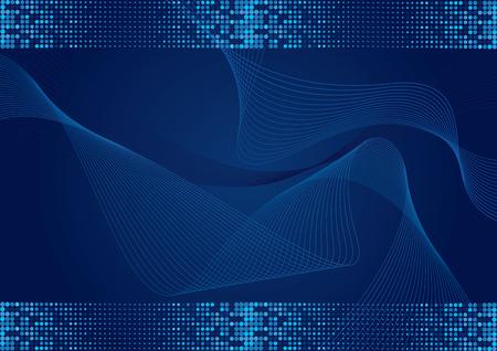 Dark blue abstract golvende achtergrond met halftone-effect