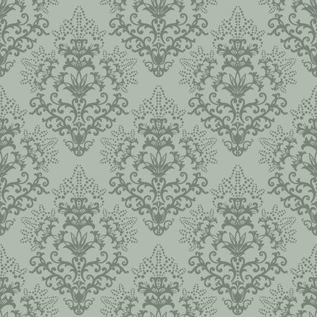 Naadloze fern groene bloem achtergrond of tekstterugloop papier Stock Illustratie