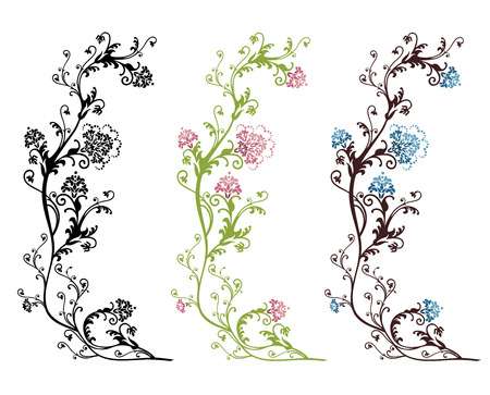 Floral vector design isolated on white background