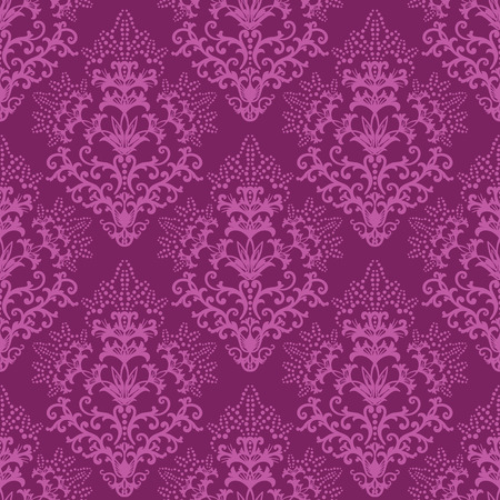 Seamless fuchsia floral wallpaper or wrapping paper Vector