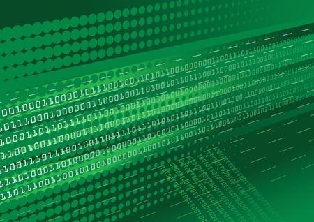 De abstracte achtergrond donker groen binaire code met halftonen effect  Stock Illustratie