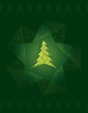 Jewelled Christmas tree Vector