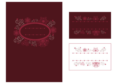 Menu and place card design