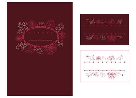 Menu and place card design