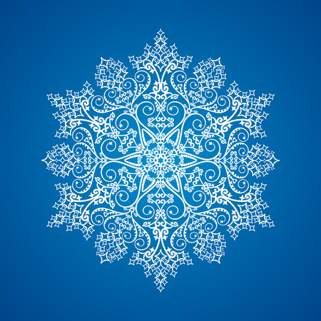 Single detailed snowflake Illustration