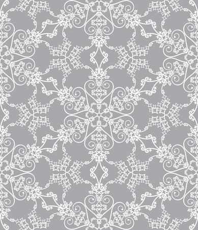 Naadloze sneeuwvlok patroon op een oranje achtergrond  Stock Illustratie