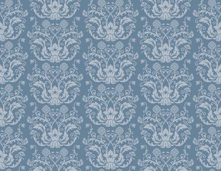 Naadloze blauwe bloemen ademd wall paper