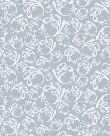 silver: Seamless round grey pattern