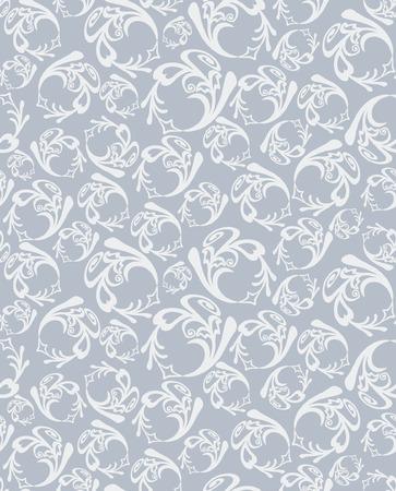 Seamless round grey pattern