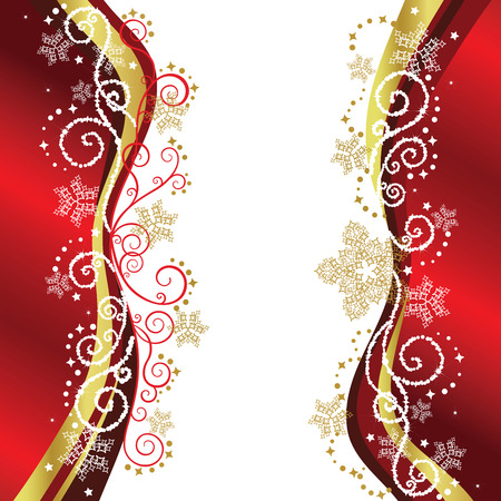 Rood & goud kerst rand ontwerpen