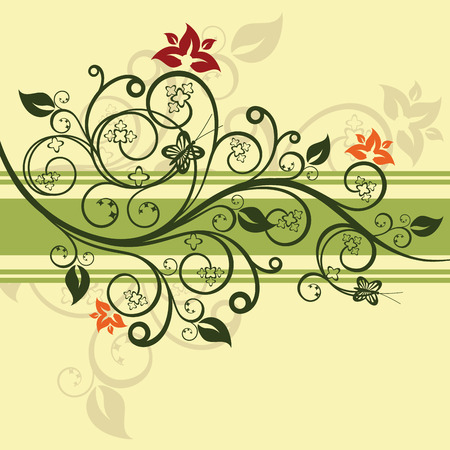floral vector: Green floral design vector illustration