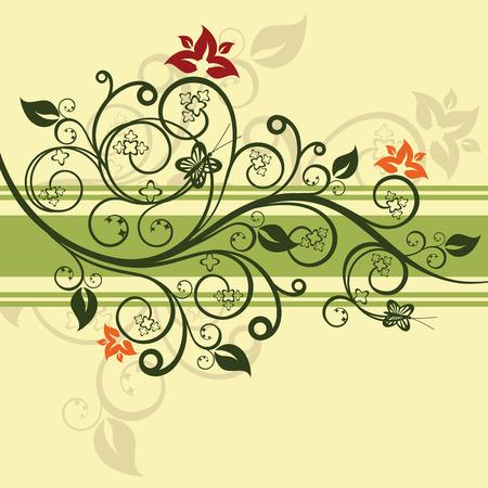 Ontwerp met groene bloemen vector illustratie  Stock Illustratie