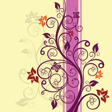 Ontwerp met paarse en roze bloemen vector illustratie